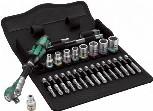 "Wera 05004019001 8100 SA 9 28 Piece 1/4"" Drive Zyklop Imperial Speed Ratchet Set"